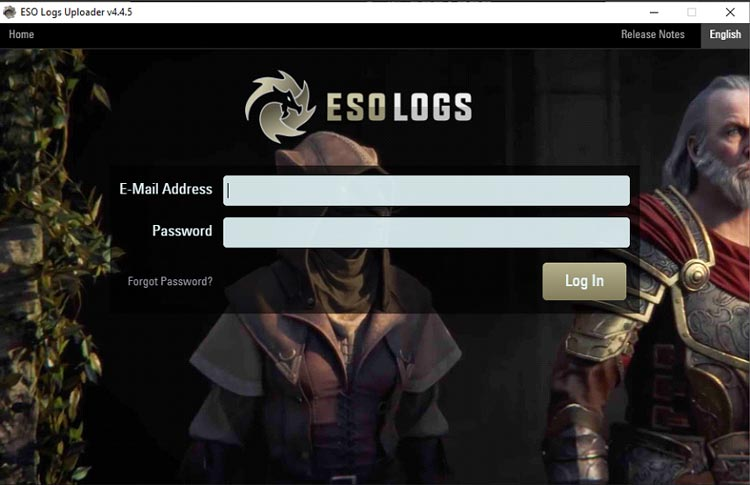 Login de Eso Logs uploader